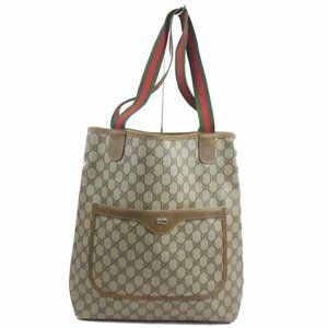 Gucci Supreme GG Sherry Web Large Shopping Tote